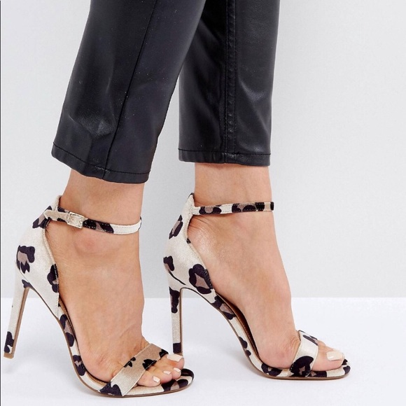 Shoes   Asos Leopard Barely There Heels